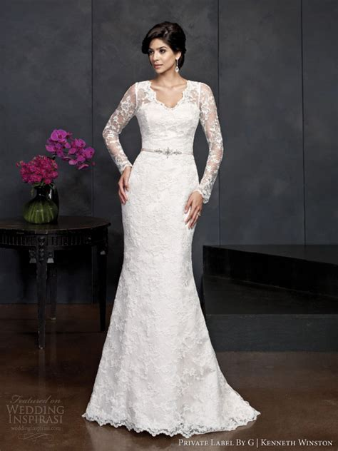 wedding gown sleeve styles kenneth winston 2014 collection highlights