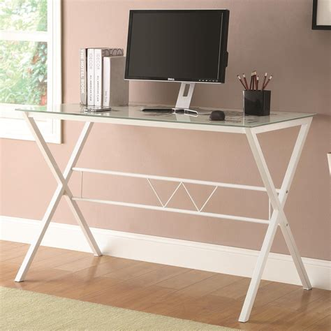 white glass office desk coaster 800406 white glass office desk a sofa