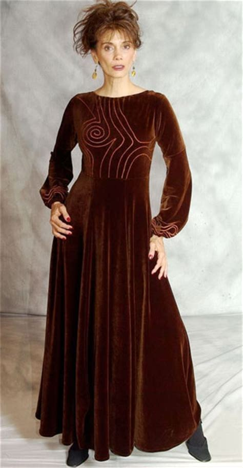 elven velvet embroidered velvet gown