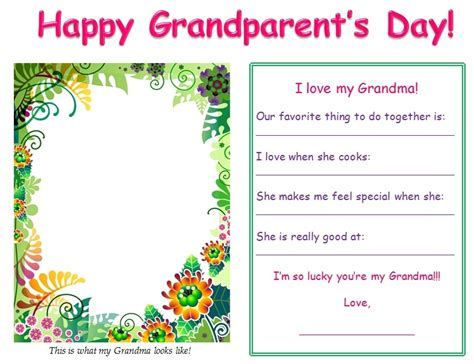grandparents day card template grandparent s day gift ideas 2 grandparent s day