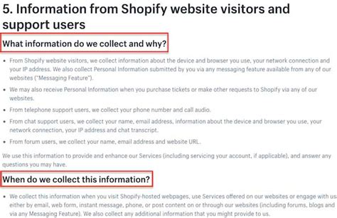 Free Privacy Policy Templates Website Mobile Fb App Termly Shopify Privacy Policy Template