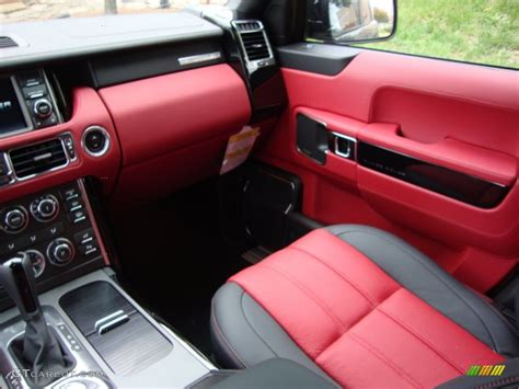 land rover autobiography red interior duo tone jet pimento interior 2012 land rover range rover