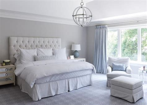 bedroom and more blue and gray bedroom features a high ceiling accented