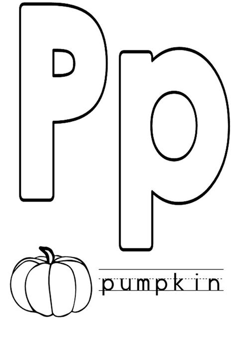 coloring page of letter p letter p coloring pages to download and print for free