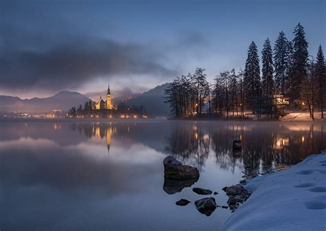 lake bled dreamy pixel lake bled on a fairytale winter morning