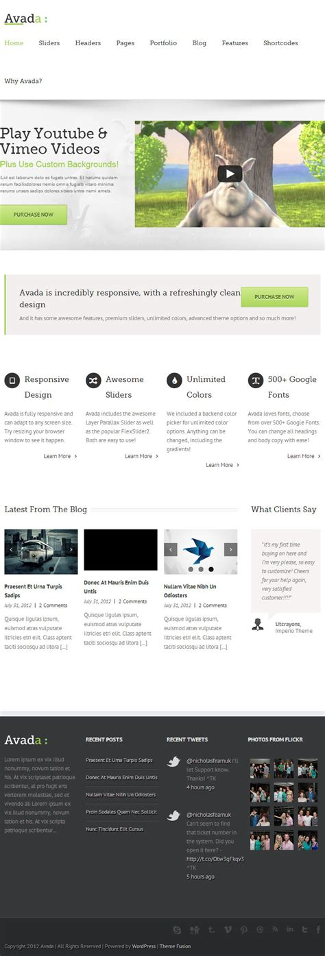 theme avada free avada premium responsive wordpress theme themeforest