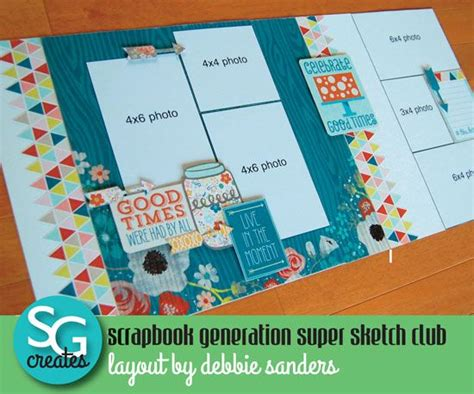 scrapbook layout sites scrapbook generation super sketch club photos one of