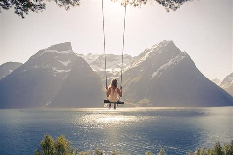 swing on top of the world 20 amazing places in norway to take photos designmaz