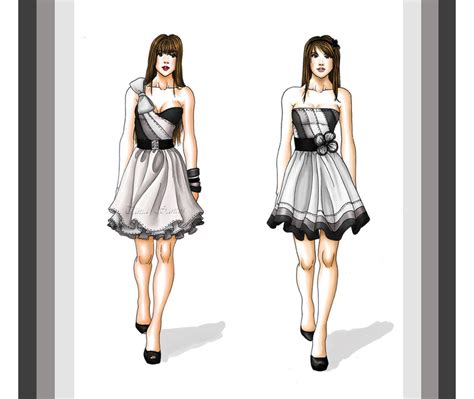 Tania Dress Grey dresses grey by tania s on deviantart