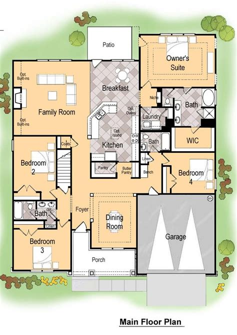 wilson parker homes floor plans muirfield main floor plan elderberry spring creek