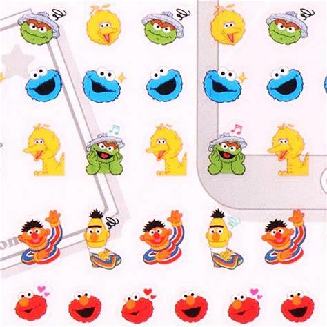 Makarenna Set Jumbo sesamstra 223 e elmo kr 252 melmonster kalender sticker aus japan