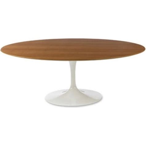 buy walnut large oval tulip style dining table from fusion