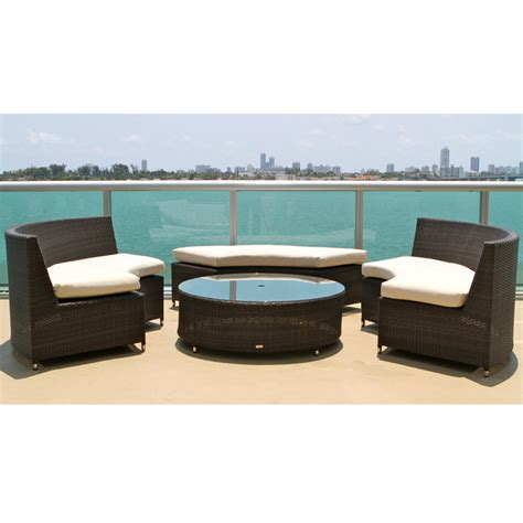 round patio sectional round wicker outdoor sectional