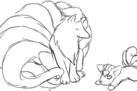 pokemon coloring pages ninetales image gallery ninetales drawings