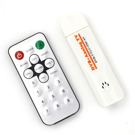 Remote Tv Tuner Advance digital satellite dvb t2 usb tv stick tuner receiver with antenna remote