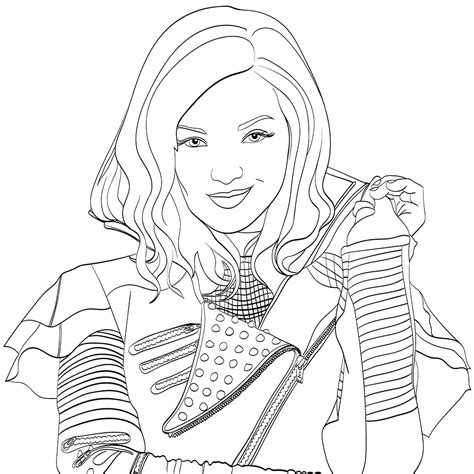 printable coloring pages descendants top 10 disney descendants 2 coloring pages