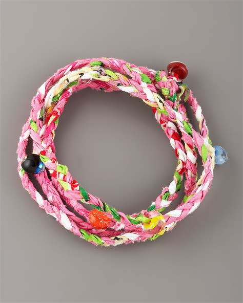 woven beaded bracelet same sky beaded woven wrap bracelet lyst