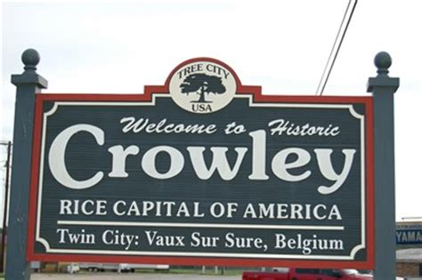 Welcome House Crowley La by Crowley La Quot Rice Capital Of America Quot Welcome Signs On