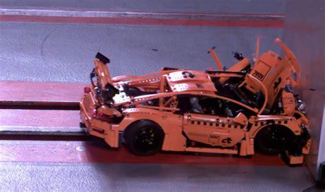 Porsche 911 Crash Test by Mesmerizing Lego Porsche 911 Gt3 Rs Crash Test