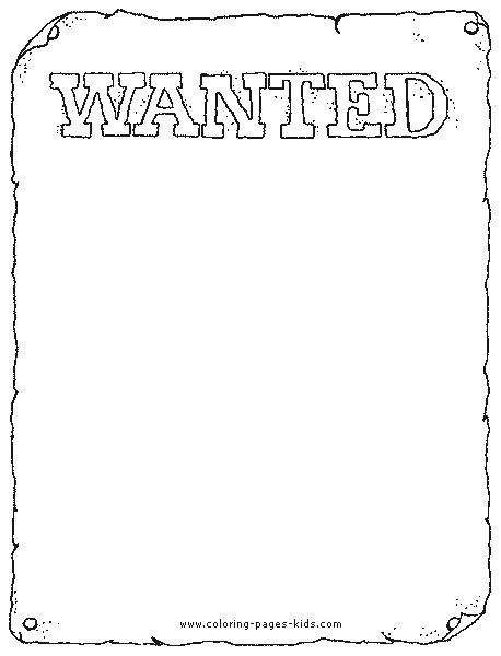 printable wanted poster template free wanted poster color page coloring pages color plate