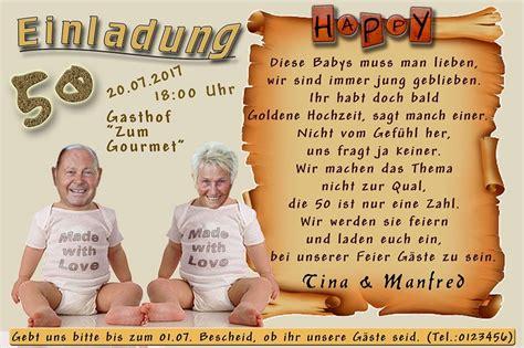 Einladung Zur Goldenen Hochzeit by Text Einladung Goldene Hochzeit Richtig Goldene Hochzeit