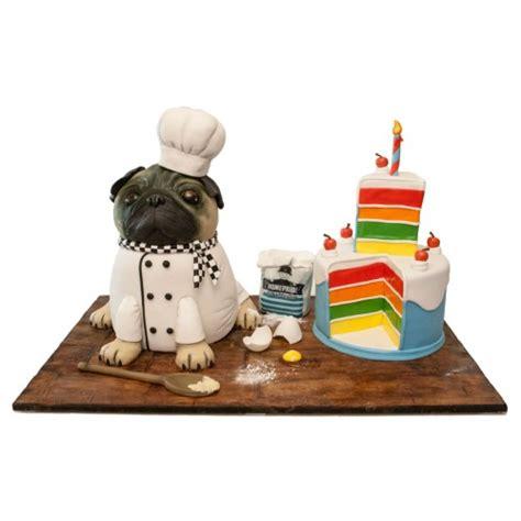 pug birthday cake topper pug chef birthday cake