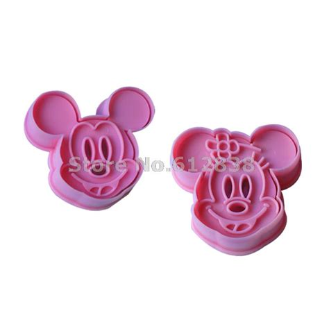 3d Biscuit Mold Cookie Cutter Press Rs 13 2pcs set cookie cutter 3d mickey mouse animal cake mold
