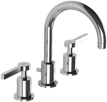 kafka 4 hole kitchen faucet by lefroy brooks yliving lefroy brooks k1 1103 cp kafka 2010 lever 3 hole basin