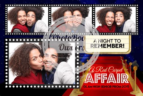 Hollywood Photo Booth Layout | hollywood red carpet postcard photo booth template