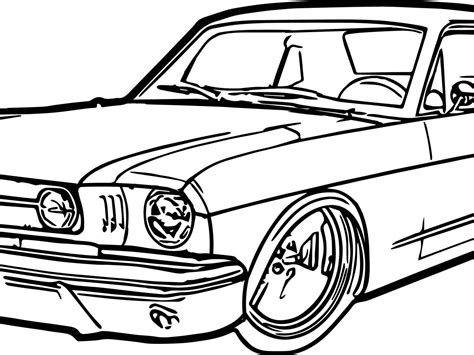 mustang car coloring pages  getcoloringscom