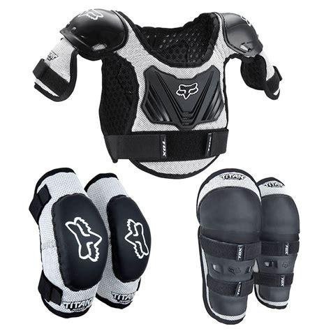 wee motocross gear fox mx titan wee youth kids motocross chest knee elbow