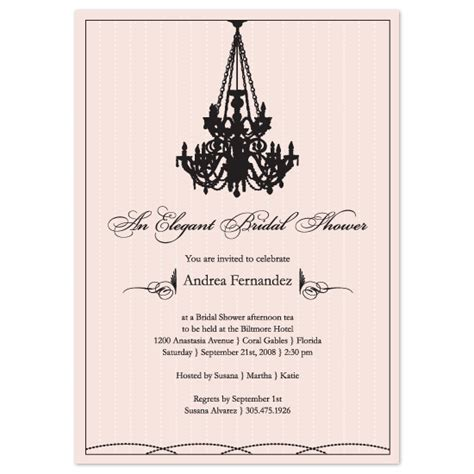 Chandelier Invitations Bridal Shower Invitations Chandelier Dreaming At Minted