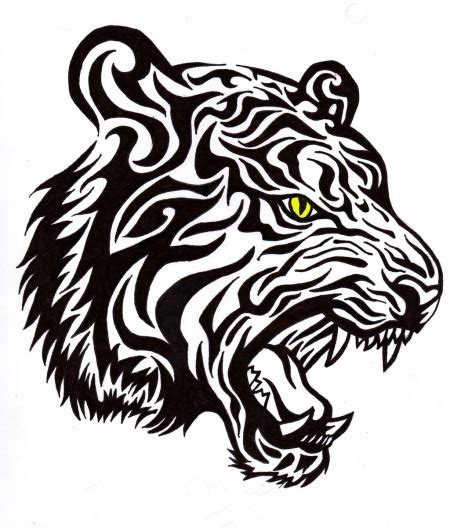 tribal dragon tiger clipart best