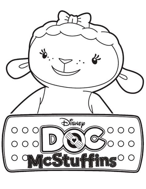 doc mcstuffins lambie the lamb coloring page h m