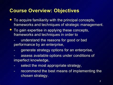 Mba Concepts And Frameworks by Mba 290 Strategic Analysis By Stanley Han