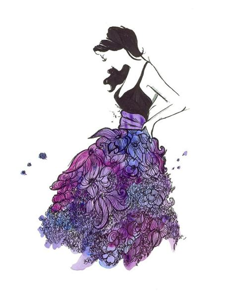fashion illustration watercolour watercolor fashion illustration image 2126154 by