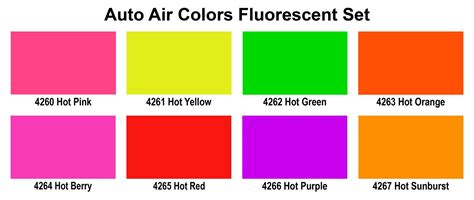 4950 01 4oz aa fluorescent set airbrush paint direct