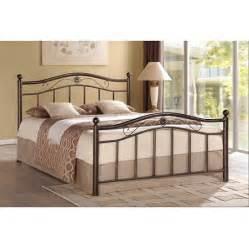 metal beds for hodedah metal bed bronze walmart