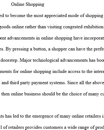 online shopping thesis proposal 100 original