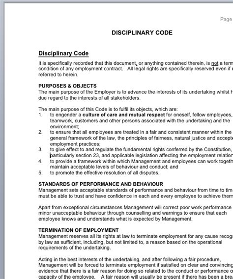 workplace code of conduct template disciplinary code of conduct for employees