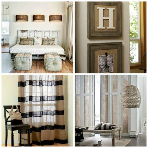 decorar hogar 21 ideas para decorar tu hogar con tela de arpillera