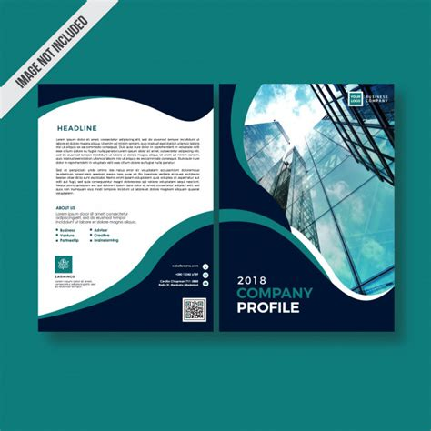 company profile design unik dark color style company profile design vector premium