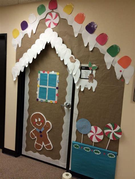 gingrbread house on school door door decoration delightful rooms classroom door