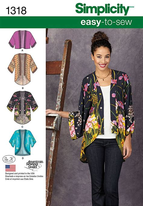 simplicity pattern ease easy to sew kimono for any occasion simplicity pattern