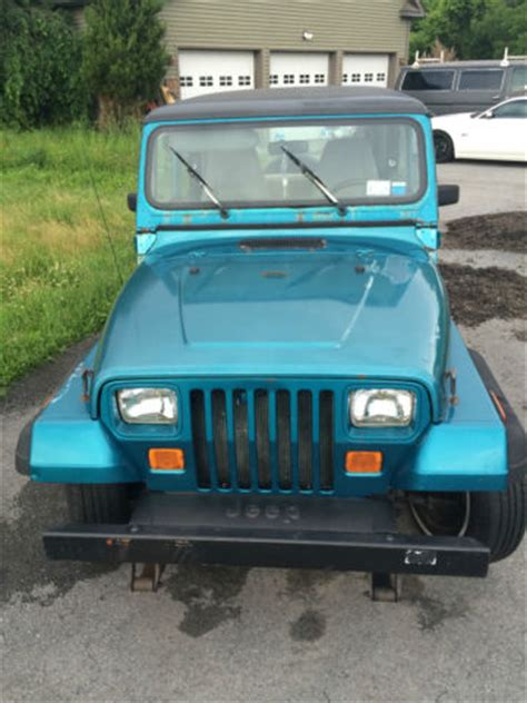 teal jeep wrangler 1992 teal blue jeep wrangler with removable top