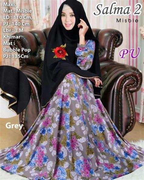 Gamis Syari Abu Cantik baju muslim cantik salma syar i model gamis terbaru