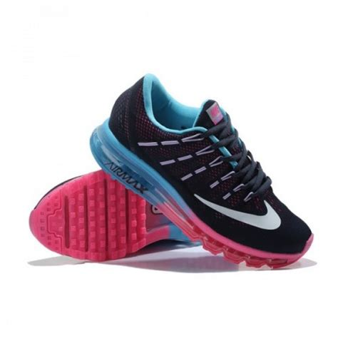nike air max  black blue pink  golden shoes