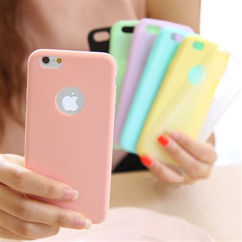 For Iphone 5 5s Soft Jelly Pastel Color Casing Iphone 5 5s 3 for iphone 7 6 6s plus 5 5s se solid tpu color