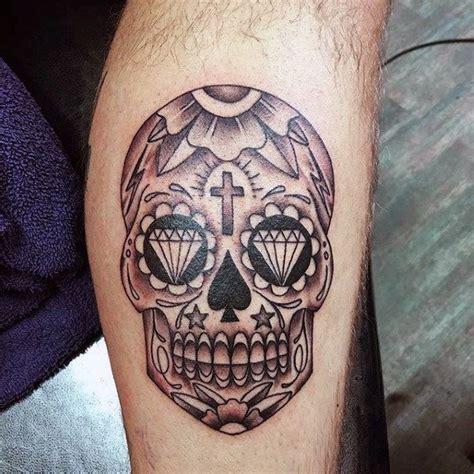 mexican skull tattoo mexican sugar skull on forearm