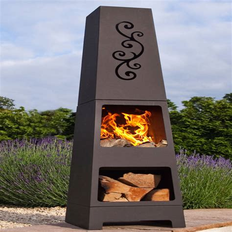 Chiminea Logs Manoa Chiminea Patio Heater And Log Store By Oxford
